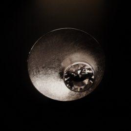 Bergkristall Teller-Ring